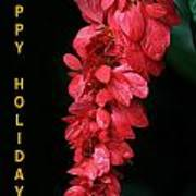 Red Holiday Greeting Card Poster