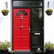 Red Irish Door Poster
