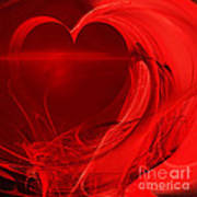 Red Love . Square . A120423.279 Poster by Wingsdomain Art and Photography