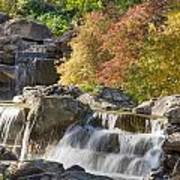 Red Maple Rill Waterfall Poster