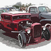 Red Model A Coupe Poster