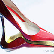 Red Patent Stilettos Poster