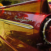 Red Ranchero And Round Taillight Poster