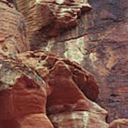 Red Rock Canyon Petroglyphs Poster