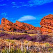Red Rocks Park Colorado Poster