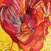 Red Rooster Red Hen Poster