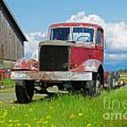 Red Rusted Semi Poster