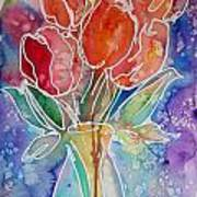 Red Tulips Poster by M C Sturman