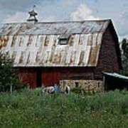 Red Weathered Barn Poster