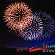 Red White And Blue Poster by Robert Bales