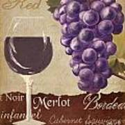 Red Wine Collage Poster