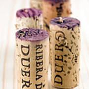 Red Wine Corks From Ribera Del Duero Poster