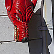Red Wolf Mask Poster