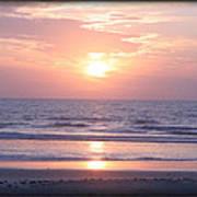 Reflected Beach Sunrise Poster