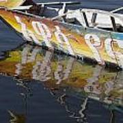 Reflection Of Boat In Lake Ethiopia Poster