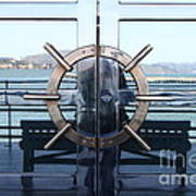 Reflections Of Alcatraz Island At The Maritime Museum In San Francisco California . 7d14080 Poster by Wingsdomain Art and Photography