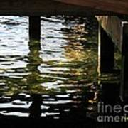 Reflections Under Pier Poster