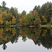 Reflective Turtle Pond - Adirondack Park New York Poster