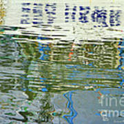 Reflective Water Abstract Poster