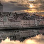 Regensburg Cityscape Poster by Anthony Citro