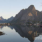 Reine Village In Early Morning Light Poster