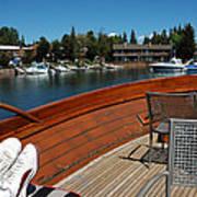 Relaxing On Lake Tahoe Poster