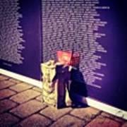 Relica #vietnammemorial Wall In Poster