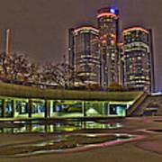 Renaissance Center Detroit Mi Poster