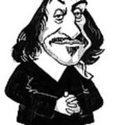 Rene Descartes, Caricature Poster