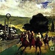 Rennen In Longchamp Poster