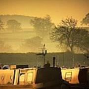 Resting Narrowboats Poster