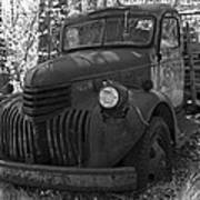 Retired Rusty Relic Farm Truck Poster