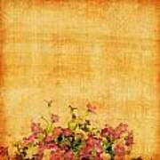 Retro Flower Pattern Poster