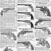 Revolvers And Pistols, 1895 Poster