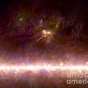 Rho Ophiuchi Nebula And Galactic Center Poster
