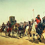 Richard Coeur De Lion On His Way To Jerusalem Poster
