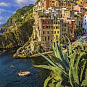 Rio Maggiore Cinque Terre Italy Poster