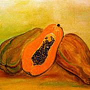 Ripe Papaya Poster