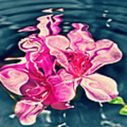 Rippling Flowers Poster