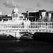 River Liffey Dublin City Center Poster