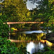 River Walk Bridge Poster