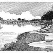 Riverwalk On The Pecos Poster by Jack Pumphrey