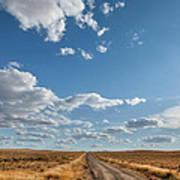 Road Near Ten Sleep Wyoming Poster