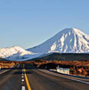 Road To Mt Ngauruhoe Poster