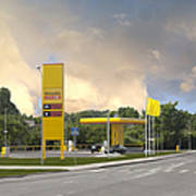 Roadside Gas Station Poster by Jaak Nilson
