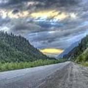 Roadside Sunset Poster
