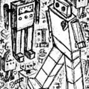 Robot Sketch 6 Of 6 Poster