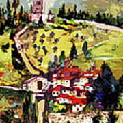 Rocca Maggiore Assisi Italy Poster by Ginette Callaway