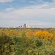 Rochester Skyline Panorama Poster