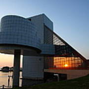 Rock Hall At Sunset Poster